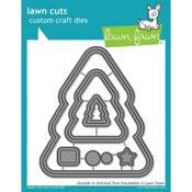 Outside In Stitched Christmas Tree Die - Lawn Fawn