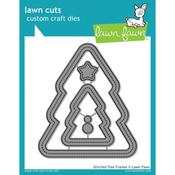 Stitched Christmas Tree Frames Die - Lawn Fawn