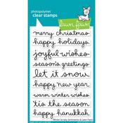 Winter Scripty Sentiments Clear Stamps - Lawn Fawn