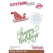 Happy Holidays Set Die - Cottage Cutz - PRE ORDER