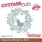 Grapevine Wereath W/Bird Die - Cottage Cutz - PRE ORDER