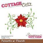 Poinsettia W/Flourish Die - Cottage Cutz - PRE ORDER