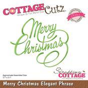 Merry Christmas Elegant Phrase Die - Cottage Cutz