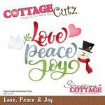 Love, Peace & Joy Die - Cottage Cutz - PRE ORDER