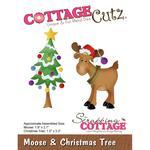 Moose & Christmas Tree Die - Cottage Cutz - PRE ORDER