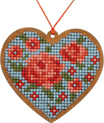 Heart - Cross Stitch Style Wood Laser Cut For Cross Stitch
