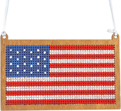 USA Flag - Cross Stitch Style Wood Laser Cut For Cross Stitch