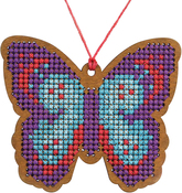 Butterfly - Cross Stitch Style Wood Laser Cut For Cross Stitch
