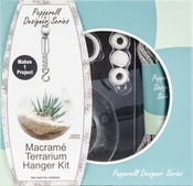 Gray - Pepperell Designer Macrame Hanging Terrarium Kit