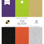 "Glitzy - DCWV Single-Sided Cardstock Stack 6""X6"" 18/Pkg"