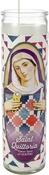 """Saint Quiltoria - K1C2 Quilt Happy Prayer Candle 8"""""""
