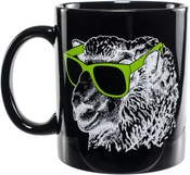 Black - K1C2 Knit Happy Mug 11oz