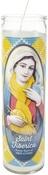 "Saint Fiberica - K1C2 Knit Happy Prayer Candle 8"""