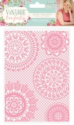 "Doily Delights - Vintage Tea Party Embossing Folder 5""X7"""