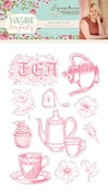 Tea For Two - Vintage Tea Party Clear Stamps