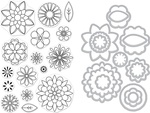 Blossoms For Coloring - Hero Arts Clear Stamp & Die Combo