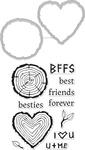 Besties - Hero Arts Stamp & Cut