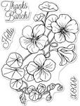 """Nasturtium - Hero Arts Florals Clear Stamps 3""""X4"""""""