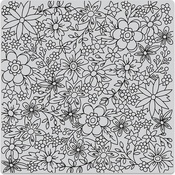 """Flowers For Coloring - Hero Arts Cling Stamps 6""""X6"""""""