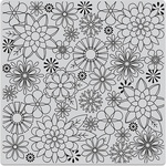 """Blossoms For Coloring - Hero Arts Cling Stamps 6""""X6"""""""