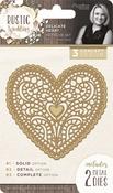 Delicate Heart - Rustic Wedding Dies 2/Pkg