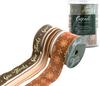 Brass Metallic W/Brown, Pumpkin & Gold - Cascade Ribbon Give Thanks Collection 3/Pkg