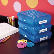 "8.375""X5.625""X2.125"" Splash Tint - Sterilite Small Pencil Storage Box"