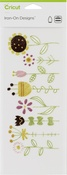 "Flower Garden-Small - Cricut Iron On Designs 4.25""X12"""