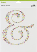 """Floral Ampersand-Large - Cricut Iron On Designs 8.5""""X12"""""""