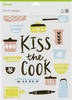 Kiss The Cook-Large - Cricut Iron On Designs 8.5 X12  Make a statement with ready-to-iron designs! Use for t-shirts, baby bodysuits, tote bags, pillows and more. This 8.5x12 inch package contains one iron-on design. Imported.