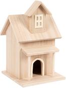 """8.5""""X5.3""""X5.3"""" - Wood Birdhouse Farm House"""