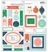 Chipboard Stickers - Holiday Vibes - Pinkfresh Studio