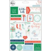 Puffy Stickers - Holiday Vibes - Pinkfresh Studio