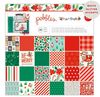 Cozy & Bright 12 x 12 Paper Pad With White Glitter Accents - Pebbles