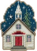 "Sunday Night-Perforated Paper - Mill Hill Counted Cross Stitch Ornament Kit 2.75""X2.5"""