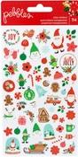 Cozy & Bright Mini Clear Stickers - Pebbles