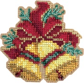 "Christmas Bells-Perforated Paper - Mill Hill Counted Cross Stitch Ornament Kit 2.75""X2.5"""