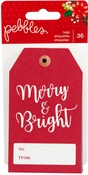Cozy & Bright Cardstock Tags - Pebbles