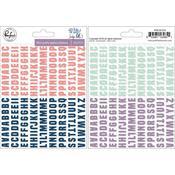 Indigo Hills 2 Mini Alpha Stickers - Pinkfresh