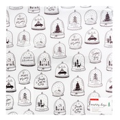 Greetings Printed Vellum Sheet - Merry Days - Crate Paper