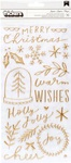 Merry Days Phrase & Accents Gold Puffy Thickers - Crate Paper