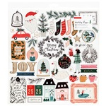 Merry Days Chipboard Sticker Sheet - Crate Paper