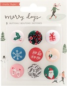 Merry Days Fabric Buttons - Crate Paper
