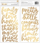 Along The Way Foam Phrase Thickers - Pebbles - PRE ORDER