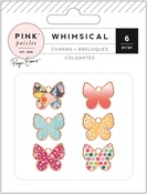 Whimsical Copper Metal Charms - Pink Paislee