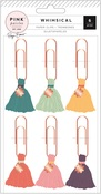 Whimsical Tassel Paper Clips - Pink Paislee