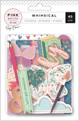 Whimsical Icon Ephemera - Pink Paislee