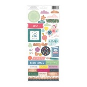 Cardstock Stickers - Whimsical - Pink Paislee