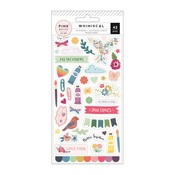Puffy Stickers - Whimsical - Pink Paislee - PRE ORDER