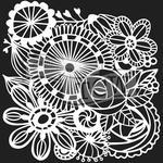 "Blooming Garden - Crafter's Workshop Template 12""X12"""